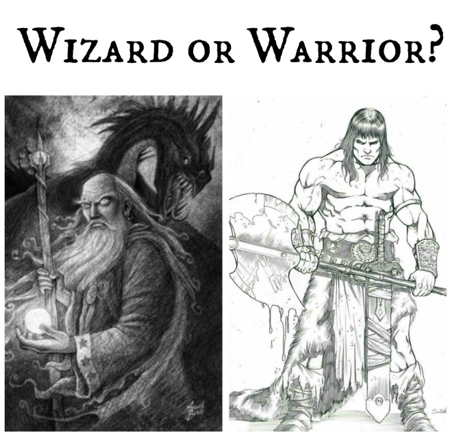 Wizard or Warrior text
