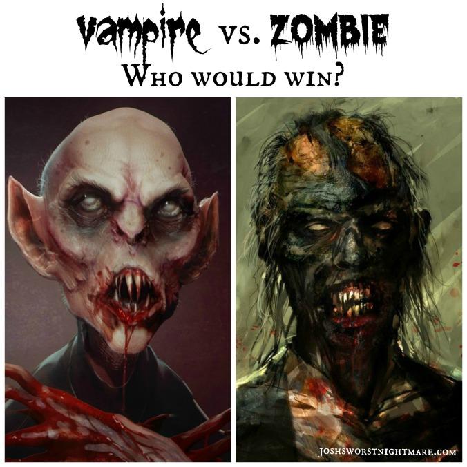 vampire vs. zombie