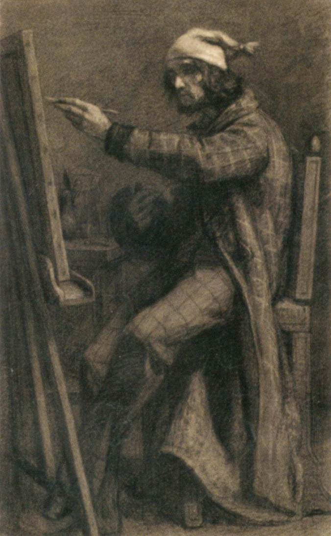 Gustave_Courbet_-_Artist_at_His_Easel_-_WGA05523